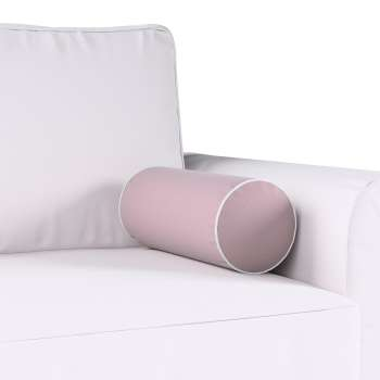 Velvety bolster with piping, Ø16×40cm, Fabric 704-14 from collection Velvet